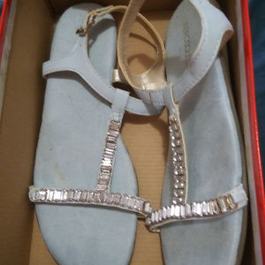 New Aerosoles Size 11 Baby Blue Diamond Sandals